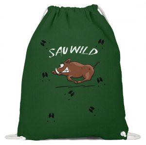 Sauwild wilde Sau | Wildschwein Keiler - Baumwoll Gymsac-833