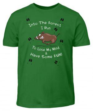 Into the Forest I Run & Have Fun Sauwild Wildsau - Kinder T-Shirt-718