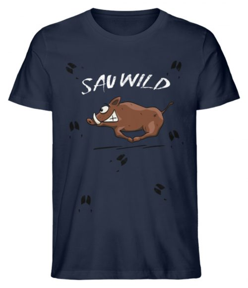 Sauwild wilde Sau | Wildschwein Keiler - Herren Premium Organic Shirt-6887
