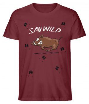 Sauwild wilde Sau | Wildschwein Keiler - Herren Premium Organic Shirt-6883