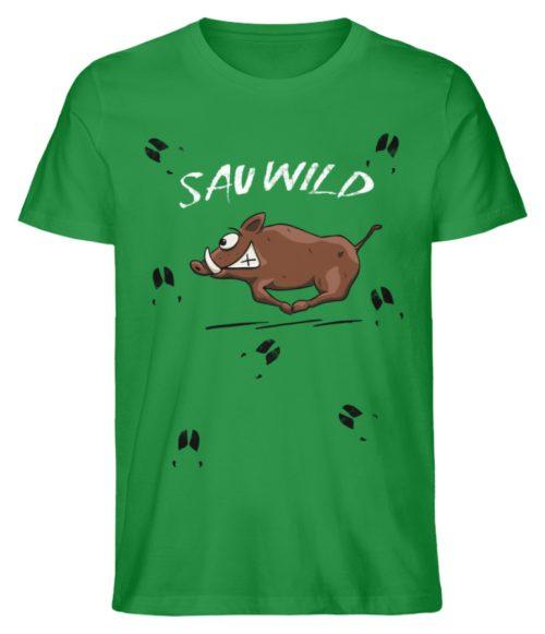 Sauwild wilde Sau | Wildschwein Keiler - Herren Premium Organic Shirt-6890