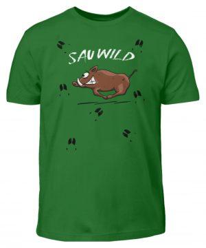 Sauwild wilde Sau | Wildschwein Keiler - Kinder T-Shirt-718