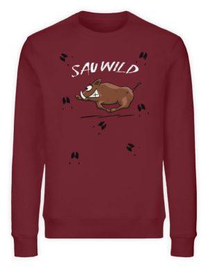 Sauwild wilde Sau | Wildschwein Keiler - Unisex Organic Sweatshirt-6883
