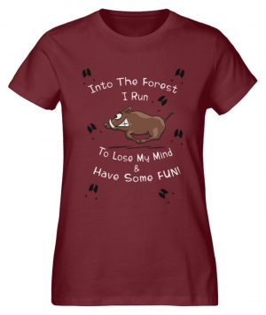 Into the Forest I Run & Have Fun Sauwild Wildsau - Damen Premium Organic Shirt-6883