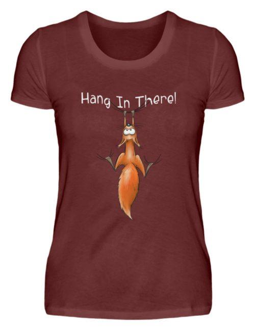 Hang In There   Lässiges Eichhörnchen - Damen Premiumshirt-3192