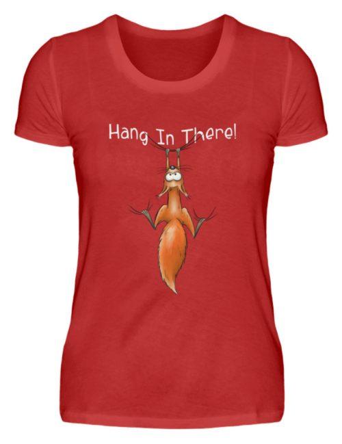 Hang In There   Lässiges Eichhörnchen - Damen Premiumshirt-4