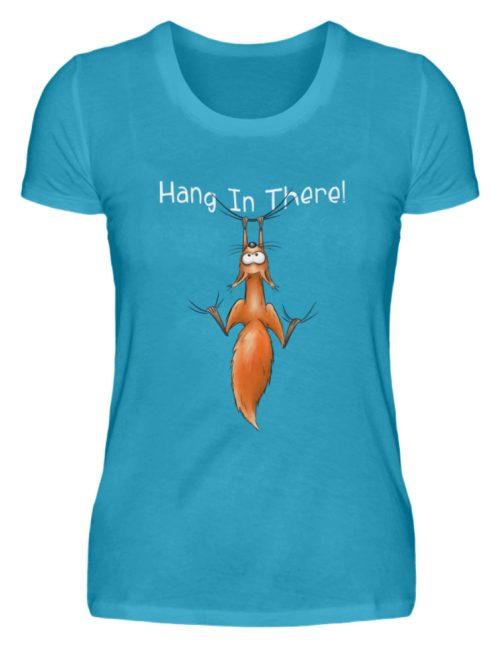 Hang In There   Lässiges Eichhörnchen - Damen Premiumshirt-3175