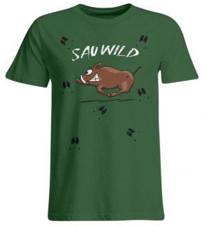 Sauwild wilde Sau | Wildschwein Keiler - Übergrößenshirt-833