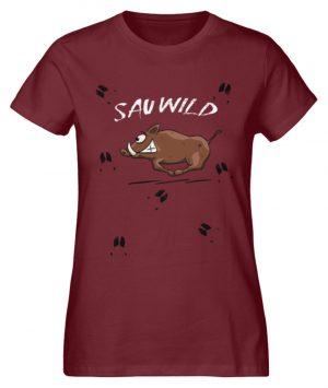 Sauwild wilde Sau | Wildschwein Keiler - Damen Premium Organic Shirt-6883