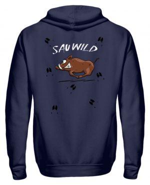 Sauwild wilde Sau | Wildschwein Keiler - Zip-Hoodie-198