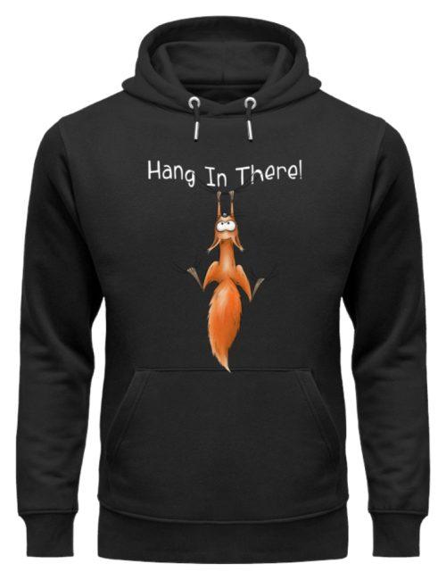 Hang In There   Lässiges Eichhörnchen - Unisex Organic Hoodie-16