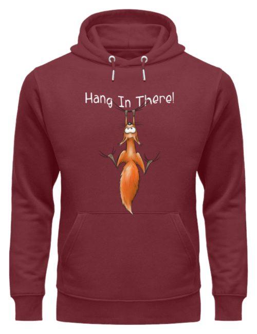 Hang In There   Lässiges Eichhörnchen - Unisex Organic Hoodie-6883