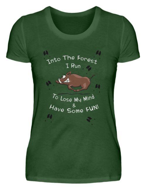 Into the Forest I Run & Have Fun Sauwild Wildsau - Damen Premiumshirt-2936