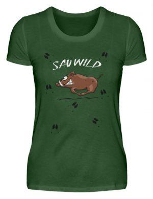 Sauwild wilde Sau | Wildschwein Keiler - Damen Premiumshirt-2936