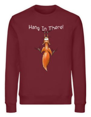 Hang In There | Lässiges Eichhörnchen - Unisex Organic Sweatshirt-6883