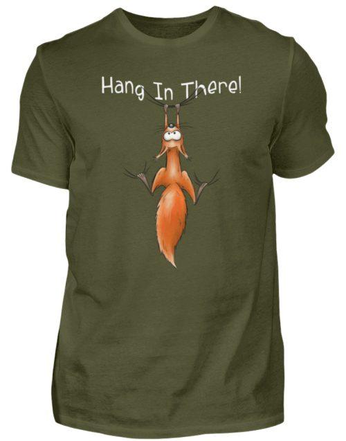 Hang In There | Lässiges Eichhörnchen - Herren Shirt-1109