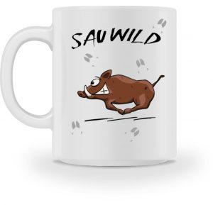 Sauwild Wildsau | witzige Wildschwein Tasse - Tasse-3