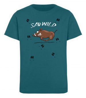Sauwild wilde Sau | Wildschwein Keiler - Kinder Organic T-Shirt-6889