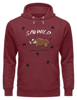Sauwild wilde Sau | Wildschwein Keiler - Unisex Organic Hoodie-6883