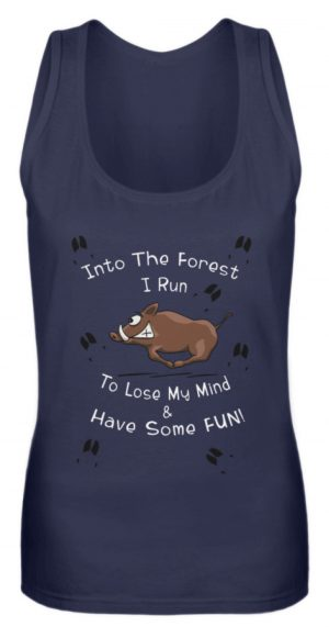 Into the Forest I Run & Have Fun Sauwild Wildsau - Frauen Tanktop-198