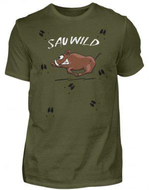 Sauwild wilde Sau | Wildschwein Keiler - Herren Shirt-1109