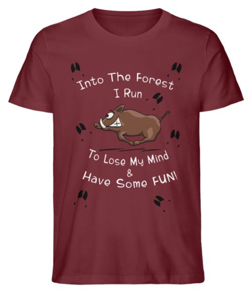 Into the Forest I Run & Have Fun Sauwild Wildsau - Herren Premium Organic Shirt-6883