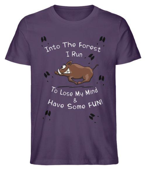 Into the Forest I Run & Have Fun Sauwild Wildsau - Herren Premium Organic Shirt-6884