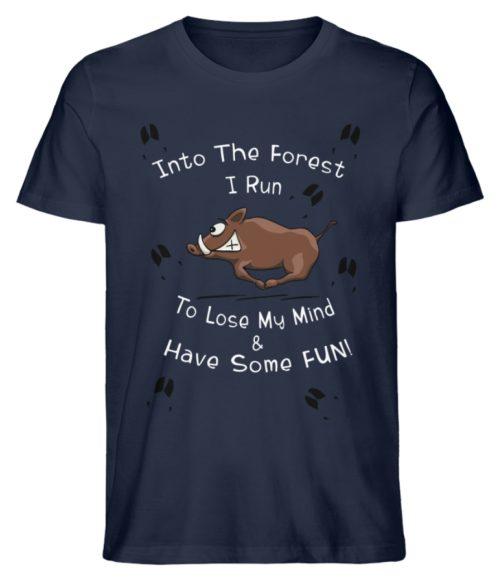 Into the Forest I Run & Have Fun Sauwild Wildsau - Herren Premium Organic Shirt-6887