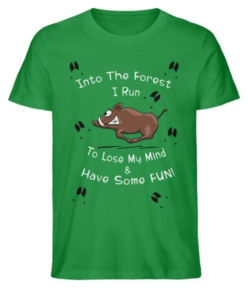 Into the Forest I Run & Have Fun Sauwild Wildsau - Herren Premium Organic Shirt-6890