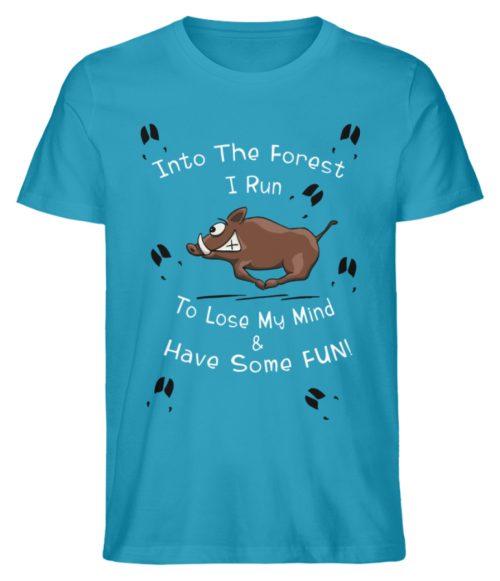 Into the Forest I Run & Have Fun Sauwild Wildsau - Herren Premium Organic Shirt-6885
