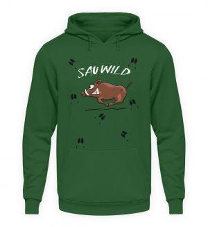 Sauwild wilde Sau | Wildschwein Keiler - Unisex Kapuzenpullover Hoodie-833