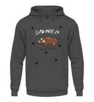 Sauwild wilde Sau | Wildschwein Keiler - Unisex Kapuzenpullover Hoodie-1762