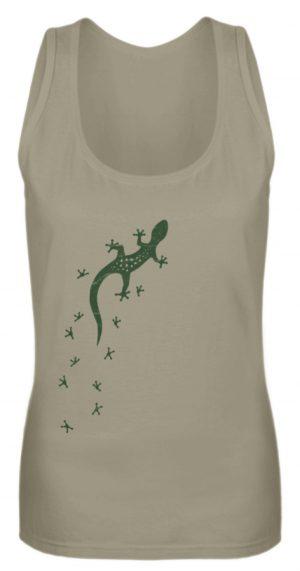 Eidechse Gecko Silhouette mit Spuren - Frauen Tanktop-651