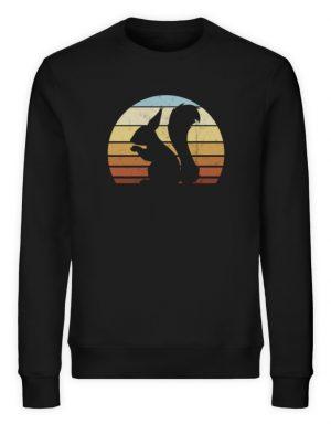 Retro Eichhörnchen Silhouette Squirrel - Unisex Organic Sweatshirt-16