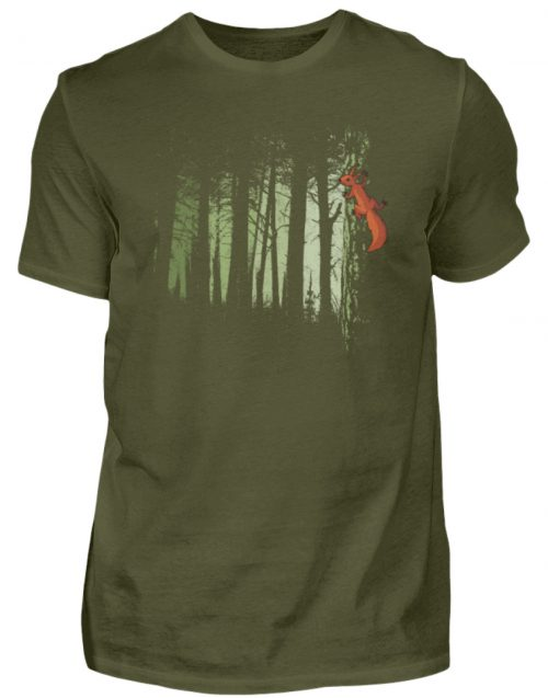 Eichhörnchen im Zwielicht-Wald - Herren Shirt-1109