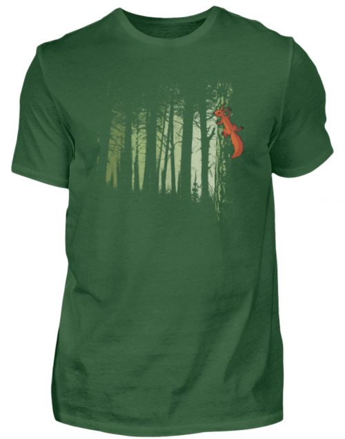 Eichhörnchen im Zwielicht-Wald - Herren Shirt-833
