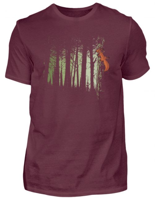 Eichhörnchen im Zwielicht-Wald - Herren Shirt-839