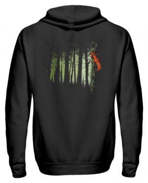 Eichhörnchen im Zwielicht-Wald - Zip-Hoodie-16