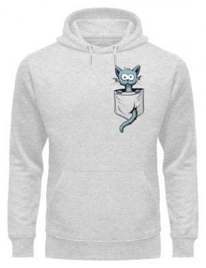 Verrückte Katze in Deiner Brust-Tasche - Unisex Organic Hoodie-6892