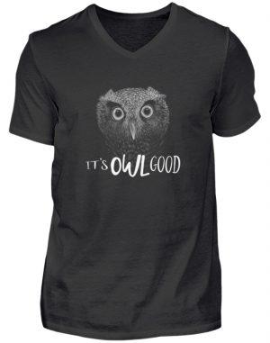 It-s OWL Good | Kritzel-Kunst-Eule - Herren V-Neck Shirt-16