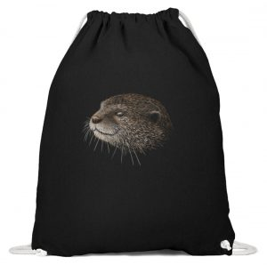 Otter Bleistift Zeichnung Kritzel-Kunst - Baumwoll Gymsac-16
