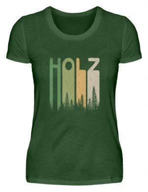 Retro Style Holz | Holziger Wald - Damen Premiumshirt-2936