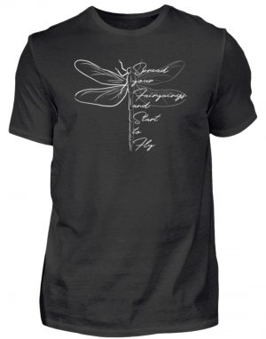 Breite die Flügel aus und flieg los | Libelle - Herren Shirt-16