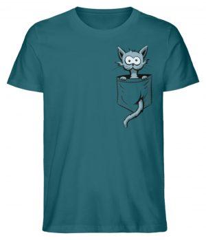 Verrückte Katze in Deiner Brust-Tasche - Herren Premium Organic Shirt-6889