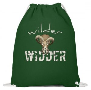 Wilder Widder | Mufflon Cooles Wild-Schaf - Baumwoll Gymsac-833
