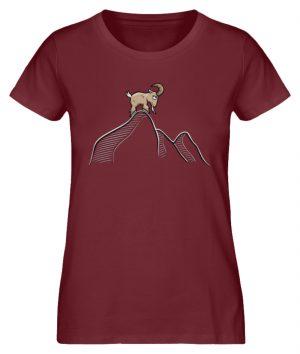 Ziegenbock in den Bergen - Damen Premium Organic Shirt-6883