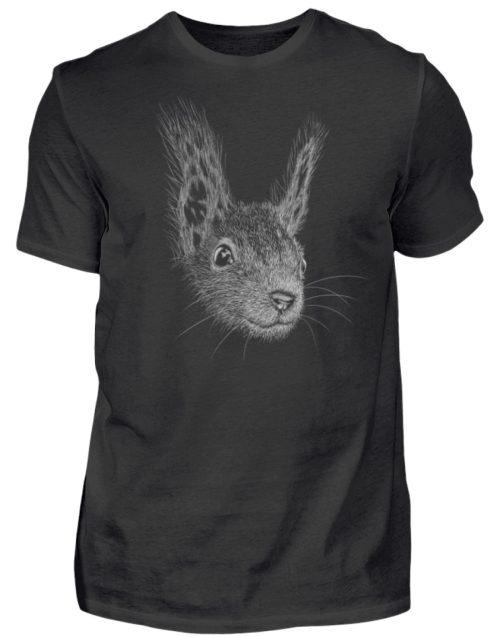 Eichhörnchen Bleistift Illustration - Herren Shirt-16
