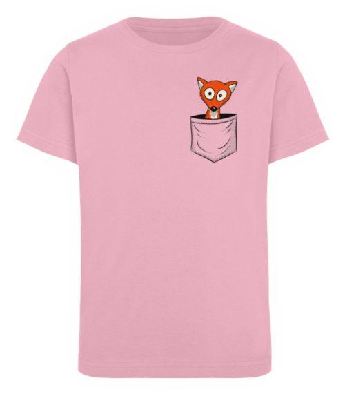 Fuchs in der Brusttasche   Taschen-Fuchs - Kinder Organic T-Shirt-6903