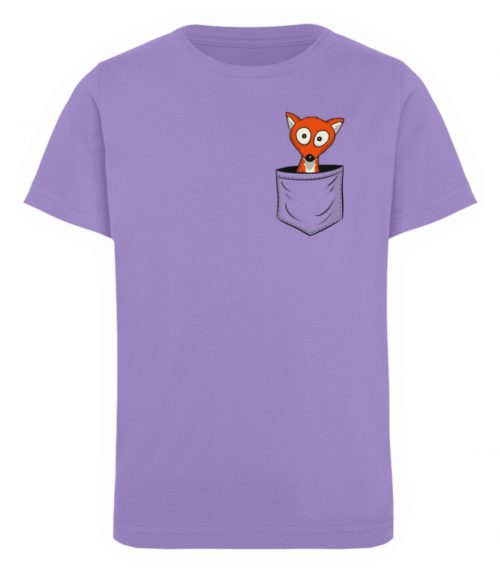 Fuchs in der Brusttasche   Taschen-Fuchs - Kinder Organic T-Shirt-6904