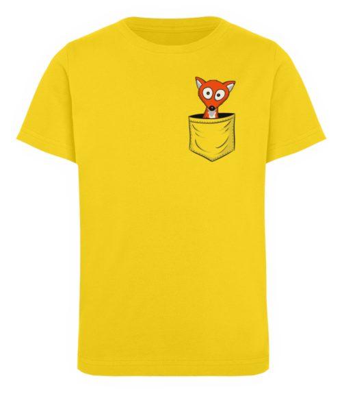 Fuchs in der Brusttasche   Taschen-Fuchs - Kinder Organic T-Shirt-6905